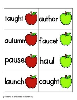 Apple Pickin' Phonics: Vowel Digraphs and Diphthongs Pack 2: aw, au, oi, oy
