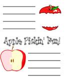 Apple Pickin' Portfolio Writing Page