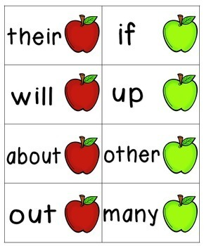 Apple Pickin' Sight Words! Bundle of Fry Lists 1-3