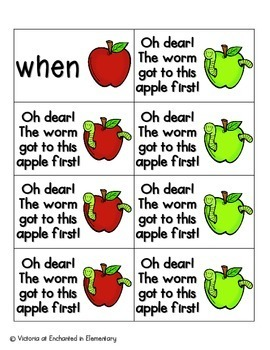 Apple Pickin' Sight Words! First Grade List Pack