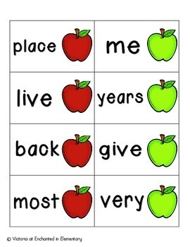 Apple Pickin' Sight Words! Fry List 2