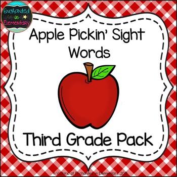 Apple Pickin' Sight Words! Third Grade List Pack