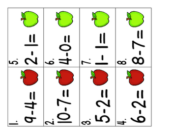 Apple Pickin' Subtraction! Subtraction Facts Practice {Freebie!}