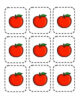 Apple Pickin' math center preview