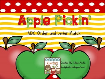 Apple Pickin' ABC Order and Letter Match