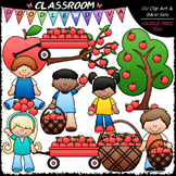 Apple Picking Clip Art - Kids Picking Apples Clip Art