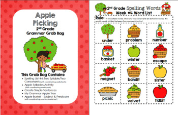 Apple Picking 2nd Grade Grammar Grab Bag #4