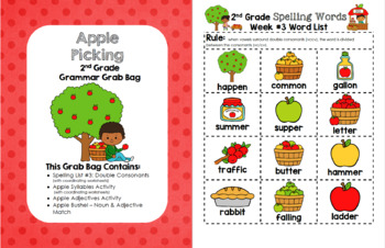 Apple Picking 2nd Grade Grammar Grab Bag (Week 3)
