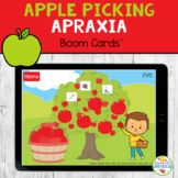 Apple Picking APRAXIA Boom Cards Distance Learning