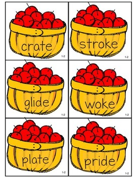 Apple Picking: Closed Syllable VCe and Open Syllable Phonics Practice