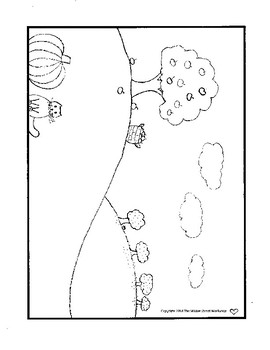 Apple Picking Coloring Page Autumn Coloring Page