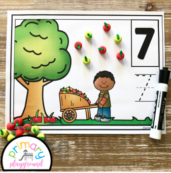 Apple Picking Counting Mats 1 - 20