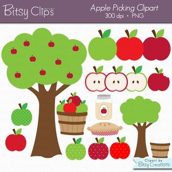 Apple Picking Digital Art Set Clipart Commercial Use Clip Art
