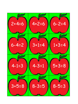 Apple Picking Fact Family Fun~ Fact Family Sort
