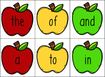 Apple Picking - Fry Sight Word Game #1-50