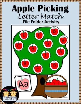 Apple Picking Letter Match File Folder Activity