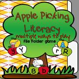 Apple Picking Literacy: File Folder Game
