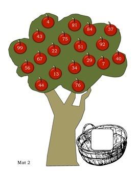 Apple Picking Math Mats
