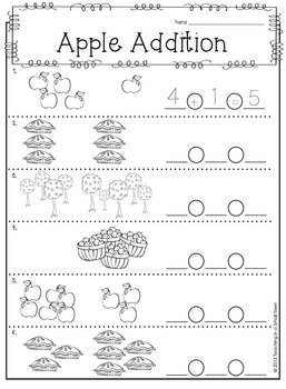 Apple Picking Math Unit- Addition and Number Sense