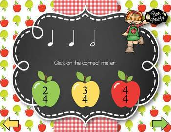 Apple Picking Meters! Interactive Time Signature Game, Meter in 2, 3, & 4
