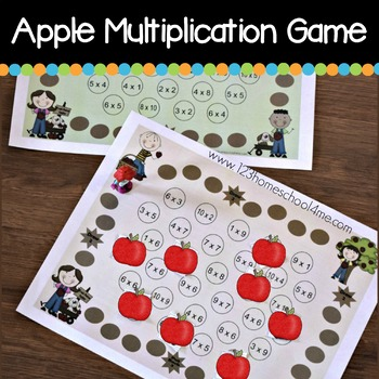 Apple Picking Multiplication Game