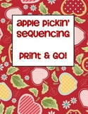 Apple Picking Sequencing Writing Center - Print and Go!