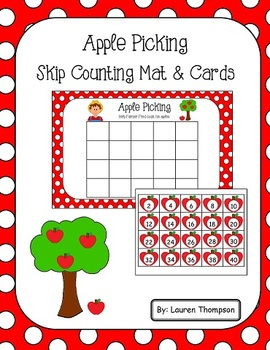 Apple Picking Skip Counting Mat & Cards