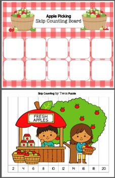 Apple Picking - Skip Counting by TWOs
