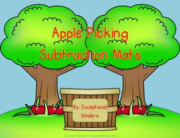 Subtraction Mats - Apple Picking