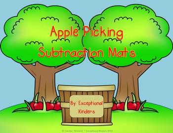 Subtraction Mats - Apple Picking