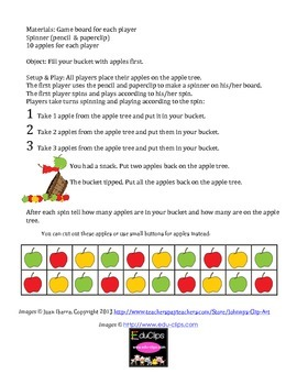 Apple Picking Ten Frame Game