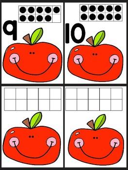 Apple Picking Ten Frame cards