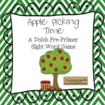 Sight Word Game- Apples (Pre-Primer)