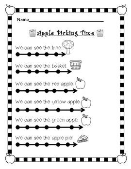 Apple Picking Time Reading Sheet