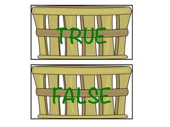 Apple Picking True and False Sort