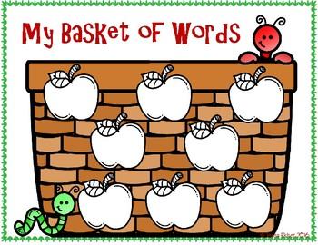 Apple Picking WONDERS Kindergarten Sight Word Literacy File Folder Game