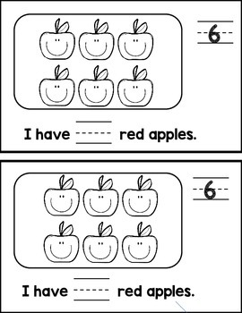 Apple Picking: number writing mini-book