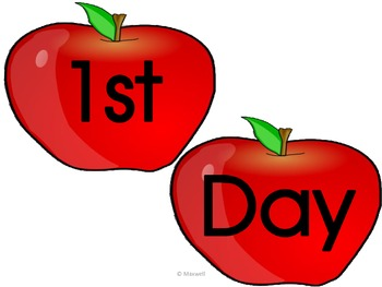 Apple Picture Frame Attachments For First Day, 100th Day, and Last Day Of School
