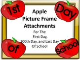 Apple Picture Frame Attachments For First Day, 100th Day,