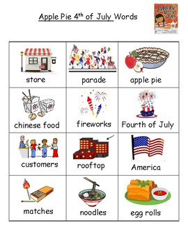 Apple Pie 4th of July Word Wall