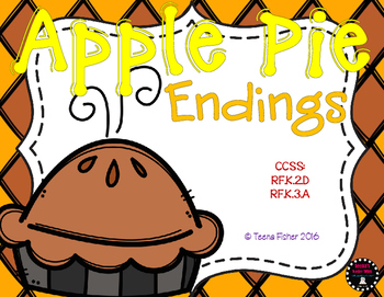 Apple Pie Endings Thanksgiving Fall File Folder Game Center