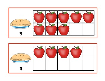 Apple Pie Math Center for composing numbers