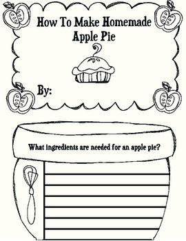 Apple Writing Activity {How to Make Apple Pie}