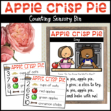 Apple Pie Recipe Cards | Counting Activity for Sensory Bin