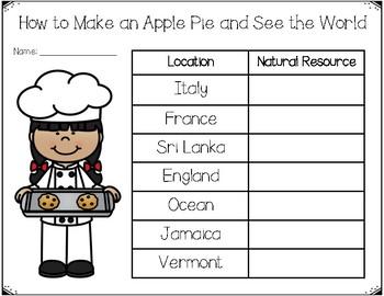 Apple Pie Resources FREEBIE {SOL 2.8}