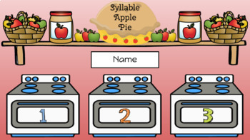 Apple Pie Syllables - September Center (in Google: Digital and Interactive)