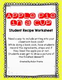Apple Pie Worksheet