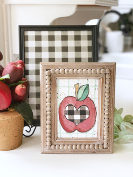 Apple Plaid Print with Backable