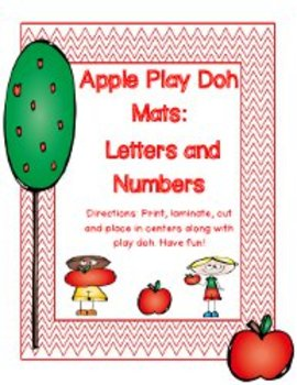 Apple Play Doh Mats: Letters & Numbers 1-30