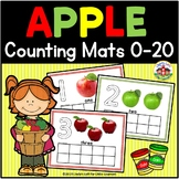 Apple Play Dough Counting Mats 0-20